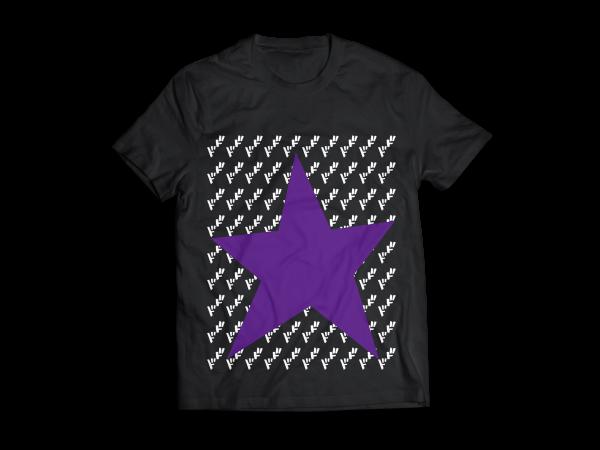 Black Joestar Star Ha;f T-shirt