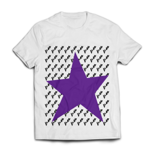White Joestar Star Ha;f T-shirt