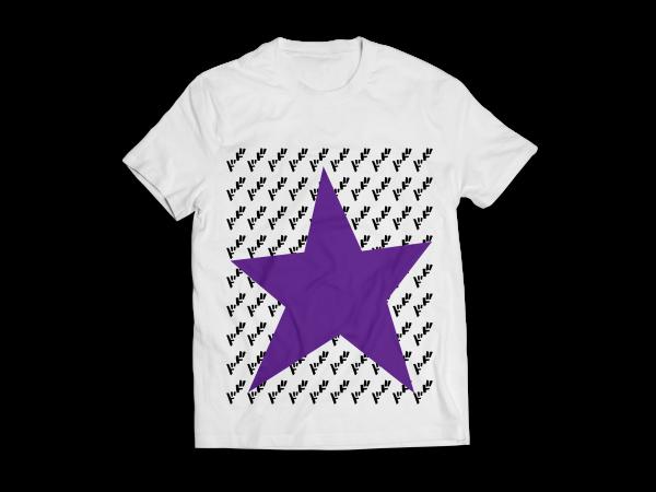 White Joestar Star Ha;f T-shirt