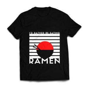 Eating Ramen Half T-shirt